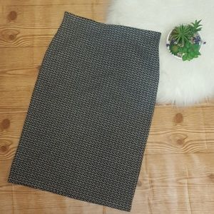 Loft Patterned Pull On Pencil Skirt Size XS